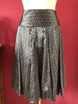 Passport Plisowana spódnica jasnoszary-srebrny Poliester