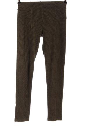 Passport Pantalon en jersey brun-noir imprimé allover style décontracté
