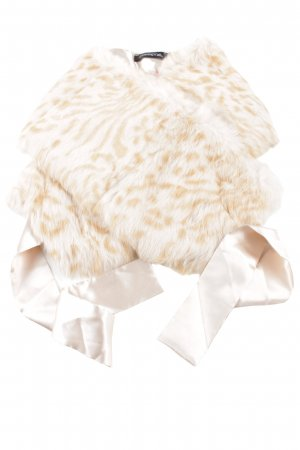 Passport Étole blanc cassé-rose chair motif animal style mouillé