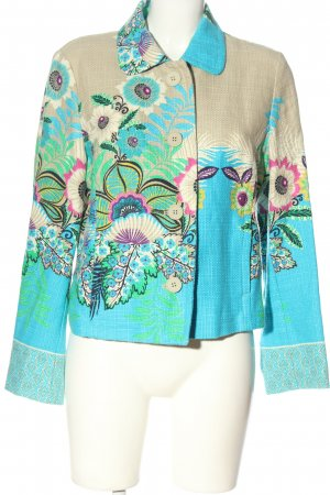Passport Strickblazer Allover-Druck Casual-Look
