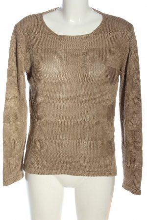 Passport Knitted Sweater brown casual look