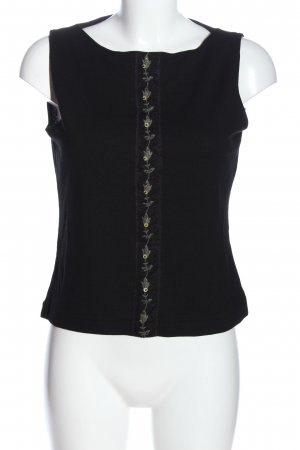 Passport Stricktop schwarz-hellgrau Casual-Look