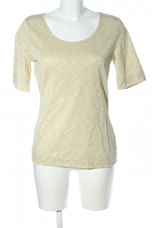 Passport T-Shirt goldfarben-weiß meliert Casual-Look