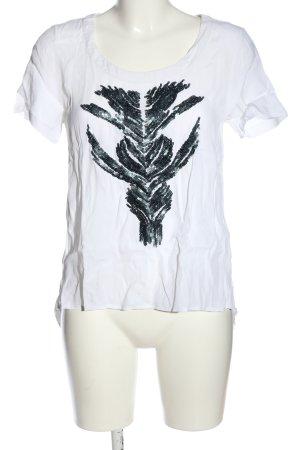 Passport T-Shirt weiß Motivdruck Casual-Look
