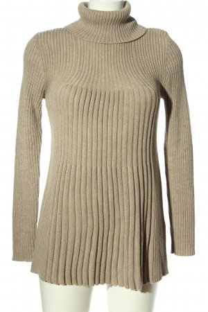 Passport Cable Sweater nude casual look