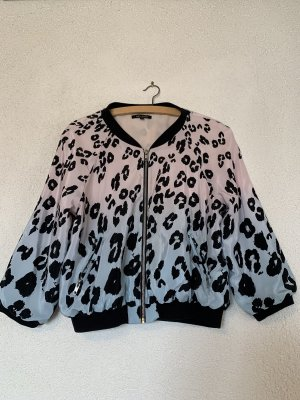 Pastell farbene  Bomberjacke rosa blau im Animalprint / Leopardenmuster