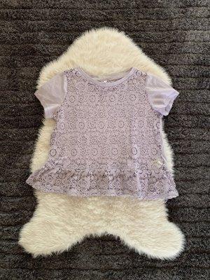 Pastell Farbenes spitzen Shirt