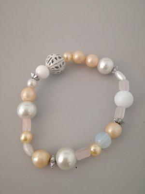 Vintage Bracelet en perles blanc-crème