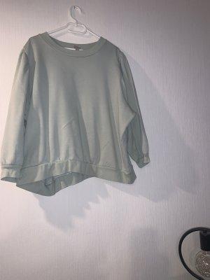 H&M Long Sweater lime-green-light blue