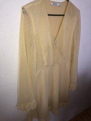 Nakd Longsleeve Dress primrose-pale yellow