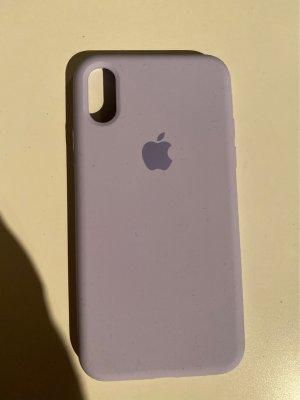 Pastelllila Handyhülle mit Apple Zeichen