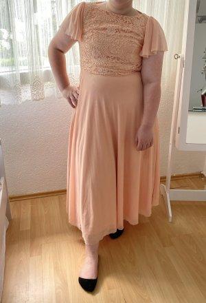 Pastelrosa Abendkleid