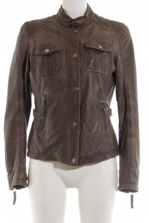 Patago Leather Jacket brown casual look