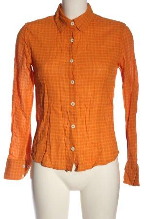 Patagonia Camicia blusa arancione chiaro motivo a quadri stile casual