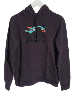 Patagonia Hooded Sweatshirt lilac printed lettering casual look