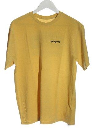Patagonia T-Shirt blassgelb Schriftzug gedruckt Casual-Look