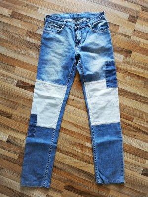 Bonaparte Jeans a gamba dritta blu pallido