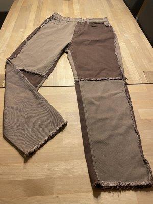 SheIn Jeansy z prostymi nogawkami szaro-brązowy
