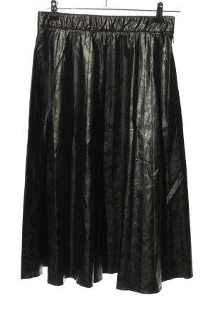 Patricia Pepe Falda de cuero de imitación negro look casual