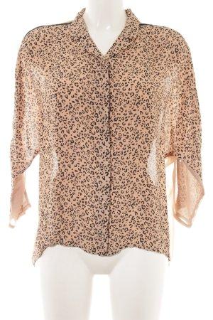 Patricia Pepe Oversized Bluse beige-schwarz Animalmuster Animal-Look