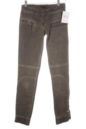 Patricia Pepe Skinny Jeans khaki Stickereiverzierung