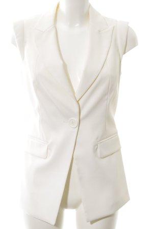 Patrizia Dini Chaleco de vestir blanco estilo «business»