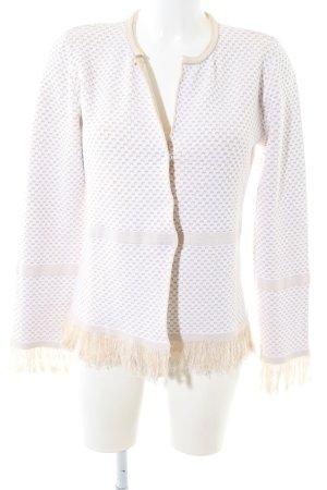 Patrizia Dini Kardigan biały-w kolorze białej wełny W stylu casual
