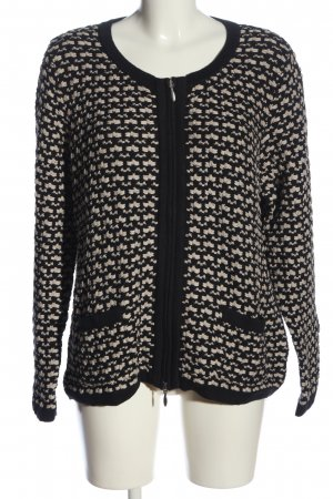 Patrizia Dini Crochet Sweater black-natural white casual look