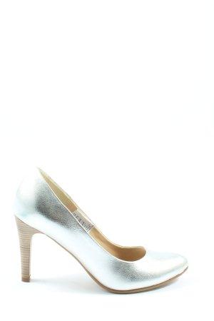 Patrizia Dini High Heels silberfarben Casual-Look
