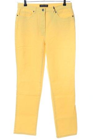 Patrizia Dini High Waist Jeans blassgelb Casual-Look