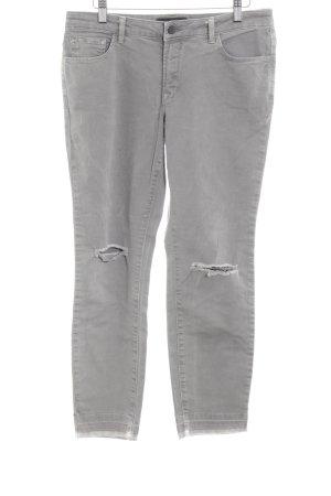 Patrizia Dini Hoge taille jeans grijs simpele stijl