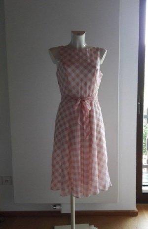 Patrizia Dini kariertes Kleid im Vintage Retro 50er Stil Empirekleid 38