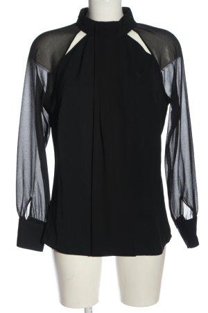 Patrizia Dini Langarm-Bluse schwarz Elegant
