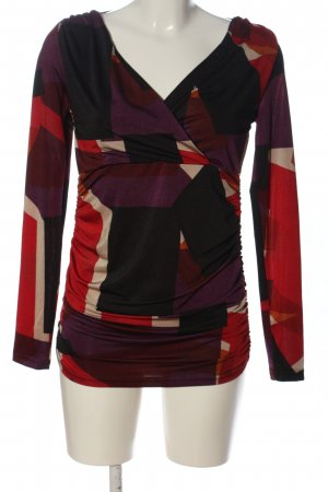 Patrizia Dini Langarm-Bluse abstraktes Muster Casual-Look