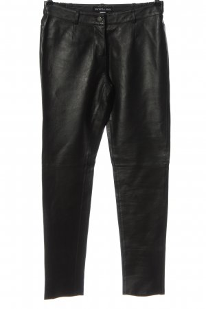 Patrizia Dini Leather Trousers black casual look