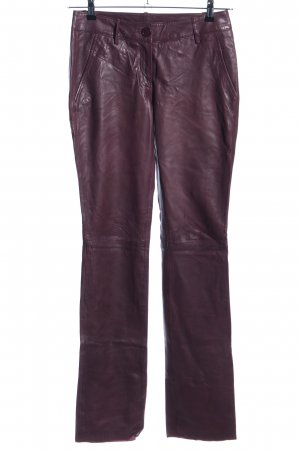 Patrizia Dini Leather Trousers red casual look
