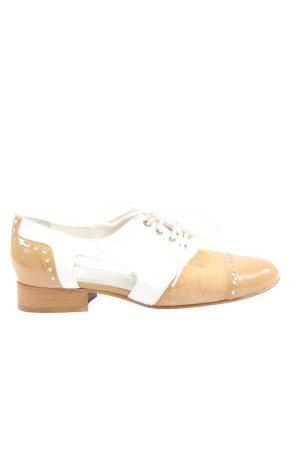 Patrizia Dini Zapatos estilo Oxford nude-blanco look casual