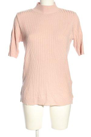 Patrizia Dini Camisa acanalada crema estampado a rayas look casual