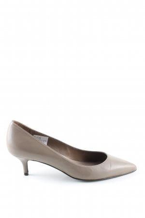 Patrizia Dini Spitz-Pumps hellgrau Business-Look