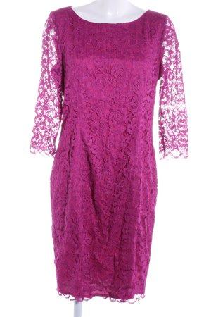 Patrizia Dini Vestido de encaje rosa estampado floral elegante