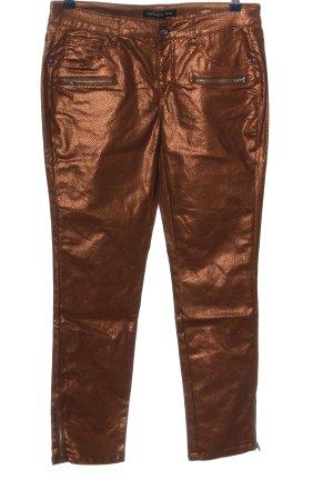 Patrizia Dini Spodnie ze stretchu brązowy W stylu casual