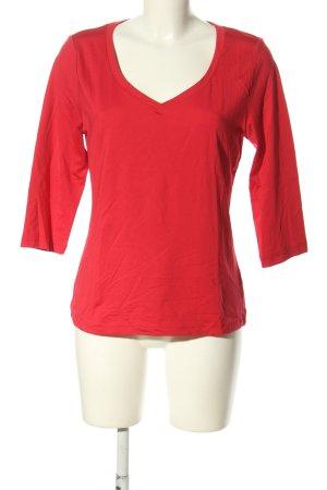 Patrizia Dini V-Ausschnitt-Shirt rot Casual-Look