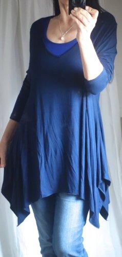 Patrizia Dini Camicia a tunica blu scuro Viscosa