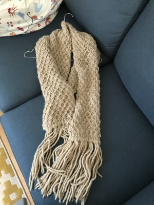 Patrizia Pepe Bufanda de punto beige lana de alpaca