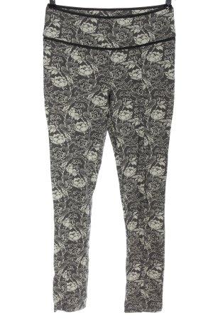 Patrizia Pepe Pantalon 7/8 noir-blanc imprimé allover style décontracté