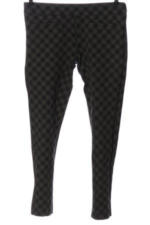 Patrizia Pepe 7/8 Length Trousers light grey-black check pattern casual look