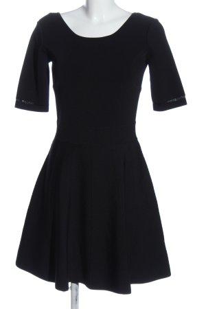 Patrizia Pepe A-Linien Kleid schwarz Zopfmuster Casual-Look