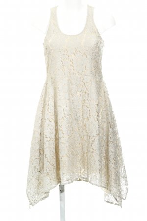 Patrizia Pepe A-Linien Kleid blassblau-goldfarben Vintage-Look