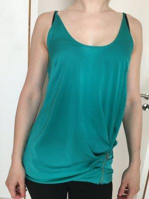 Patrizia Pepe Bluse Seide modern mit Reißverschluss luftig Gr. 36/S NEU