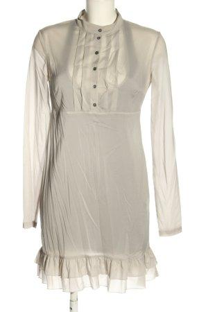 Patrizia Pepe Vestido camisero gris claro elegante